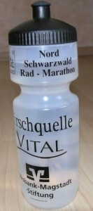 Trinkflasche für Teilnehmer das Radmarathons