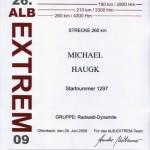 Alb Extrem 2009 Urkunde