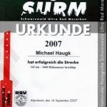 SURM 2007 Urkunde